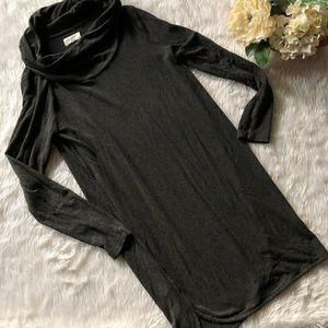 Lou & Grey Shirt Cowl Dress